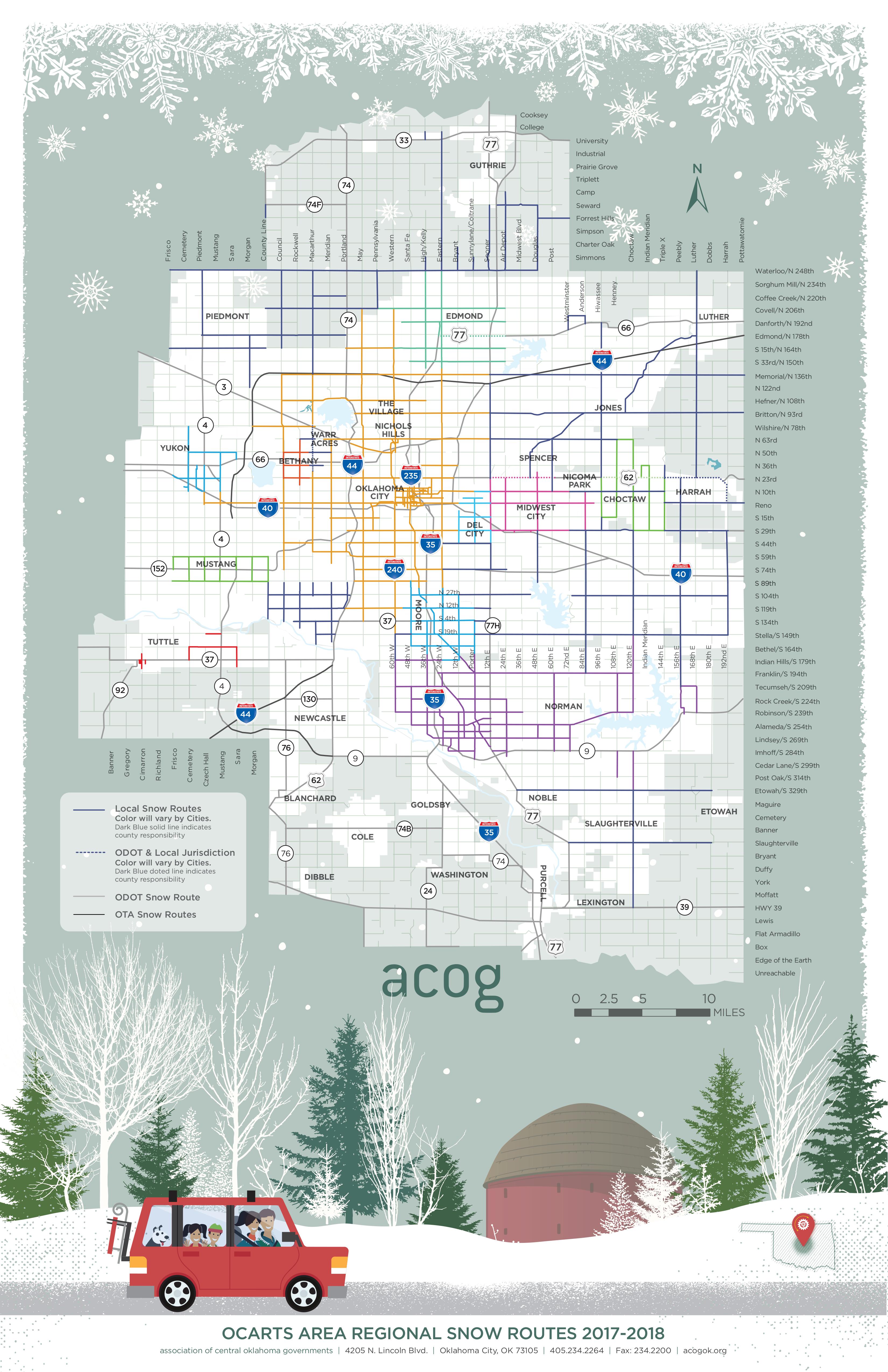2018 Regional Snow Routes MAP DESIGN