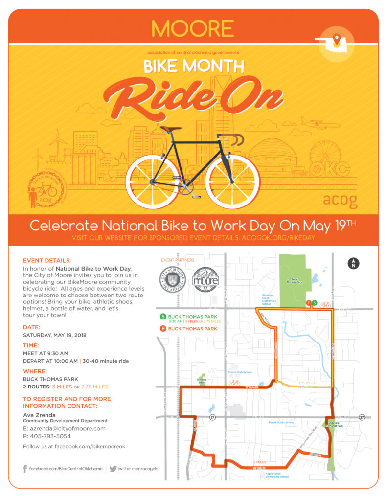 2018 Bike To Work Day Map for Moore - ACOG